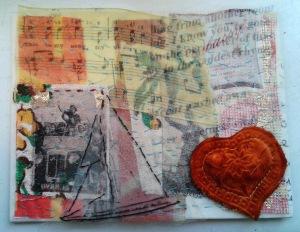 Textile postcard