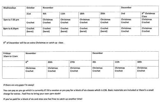 Christmas timetable 20002