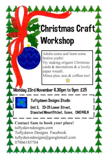 Christmas craft classes 1