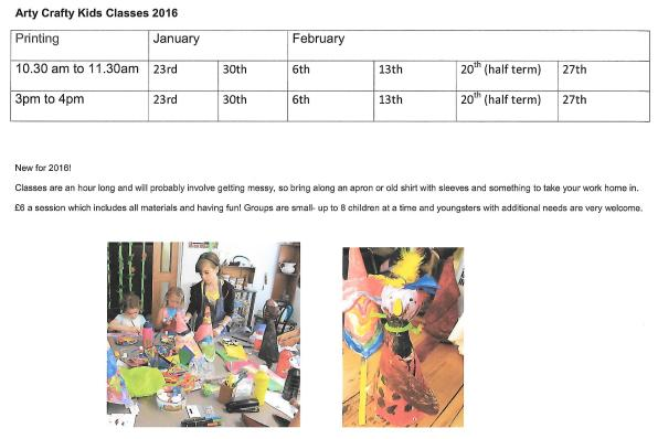 Kids craft classes timetable0003