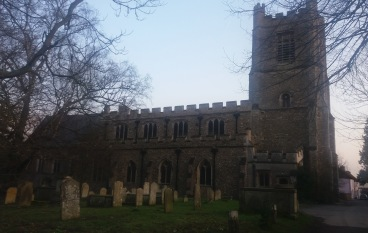 A photo of St. Mary's Church in Dunmow taken by Sam of Tuftydawn Designs