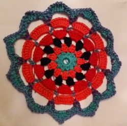 Crocheted mandala.