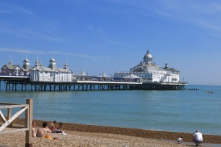 Eastbourne pier in the sunshine.