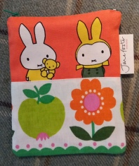 Jane Foster zip purse with vintage Miffy fabric.