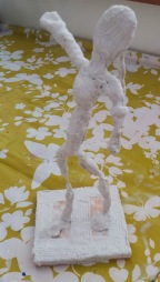 Mod Roc covered figure of a girl dancing.